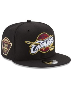 New Era Cleveland Cavaliers All Metallic Hoops 9FIFTY Snapback Cap - Black Adjustable