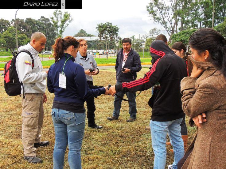 1er Congreso Latinoamericano de Medicina Táctica y atención prehospitalaria - América Militar  El C-A-T® en capacitación durante el congreso: