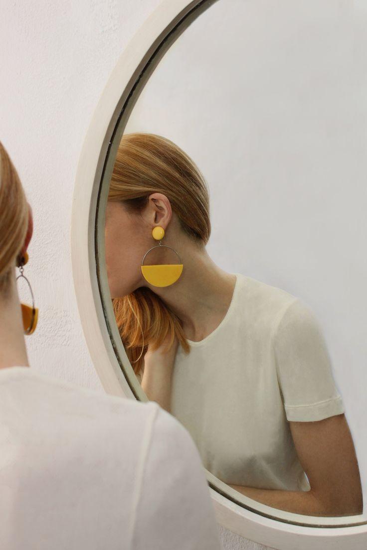 70's demi lune earrings