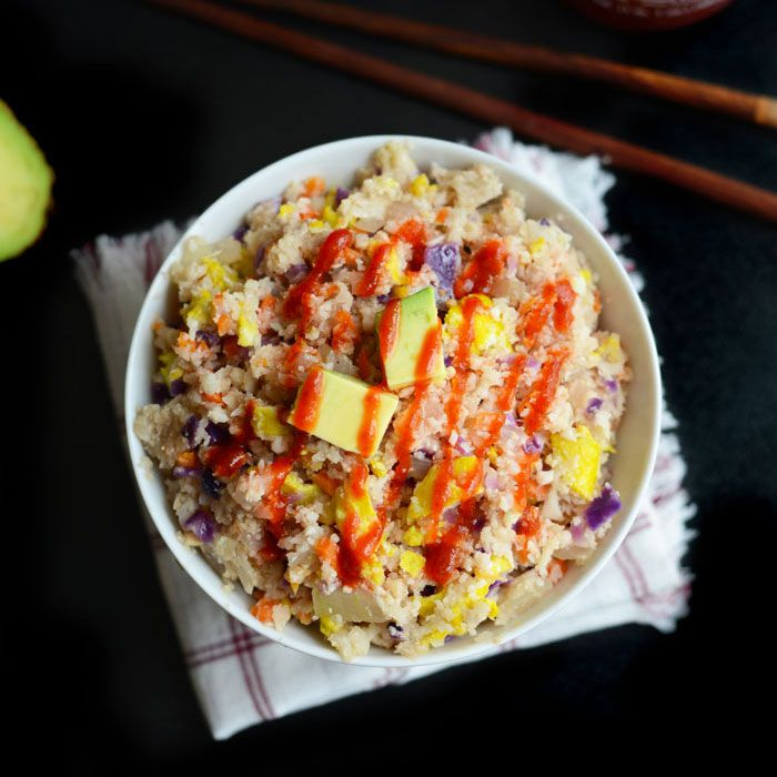Make this Paleo Fried Rice using cauliflower in place of rice and tons of veggies for a healthy, quick, 30-minute meal that's vegetarian and delicious. It's that time of the month again (no, no...n...