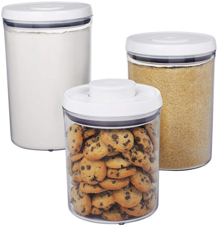 OXO Food Storage Containers, 3 Piece Round Pop Canister Set #ad