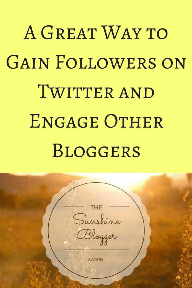 Twitter is a fantastic tool for new bloggers, and a great venue for shameless self-promotion.  The coolest thing that has happened on Twitter so far is having a fellow blogger nominate me for the Sunshine Blogger Award! #blogger #blogging #twitter