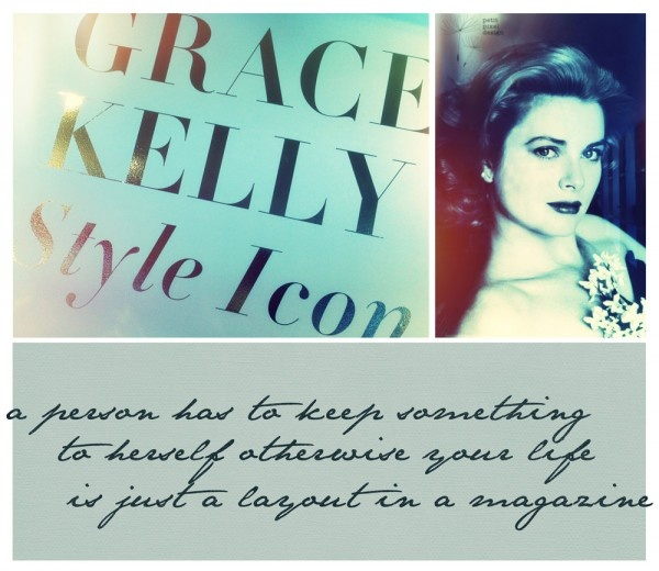 Grace Kelly: Style Icon Exhibition...digital paper Biograffiti, photographs from Bendigo Art Gallery gift shop.