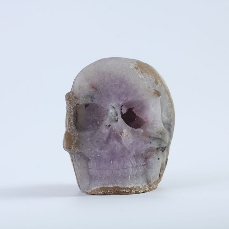 684g Quartz Rock crystal Craft  Healing  skull head for Christmas Home decoration&Gift