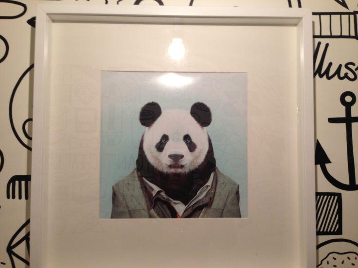 Панда в офисе