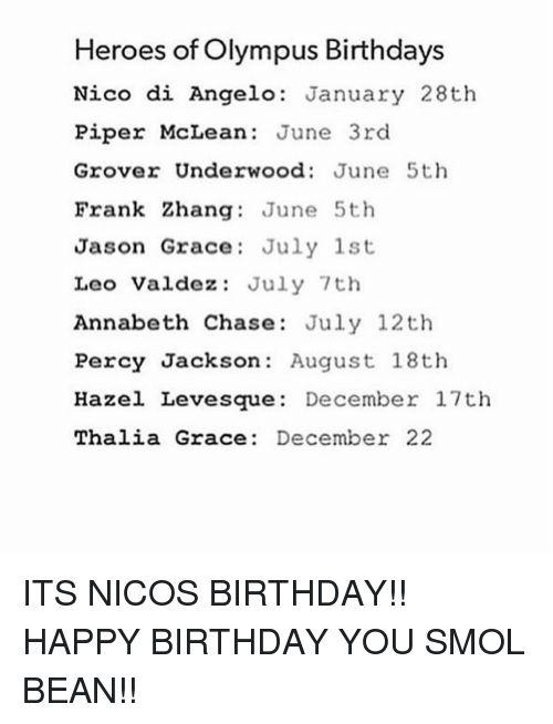 I share a birthday with Percy Jackson