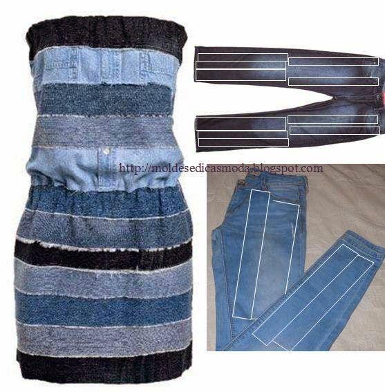 Aproveite os jeans que já não usa para lhes dar nova cara. O tecido é resistente e normalmente não se gasta de forma igual, por essa razão merece sempre se