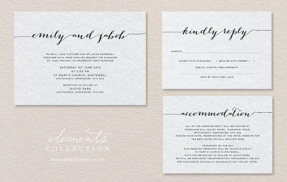 Modern Calligraphy Letterpress Wedding by PRINTforLOVEofWOOD