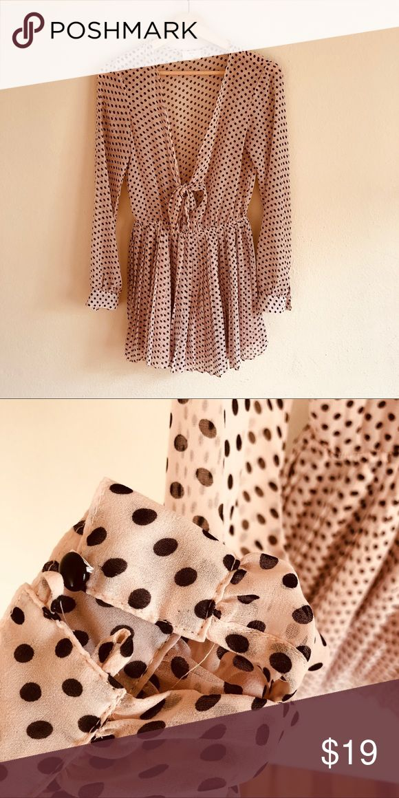 Pins + Needles Polka Dot Jumper; Size 4 How cute is this little jumper? It features fully pleated shorts, a tie front breast, and buttoned cuffs. One cuff is missing a button that could easily be found locally and repaired. Please see second picture. Price reflects missing button!Thanks for looking! 💋💋  ✖️No trades ✖️No model ✖️Price firm Urban Outfitters Other