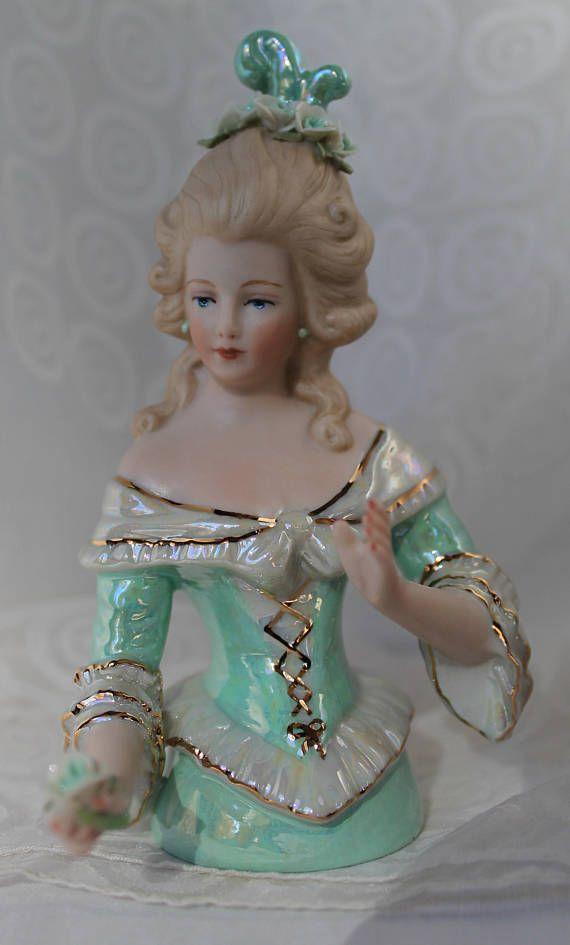 Alberta is a lovely hand crafted and hand painted half doll. She would make a wonderful addition to any collection of half dolls or your favorite porcelain figurine. Half dolls are great for beaded skirts, cross stitch designs, or finish as a Boudoir or Pincushion doll using your