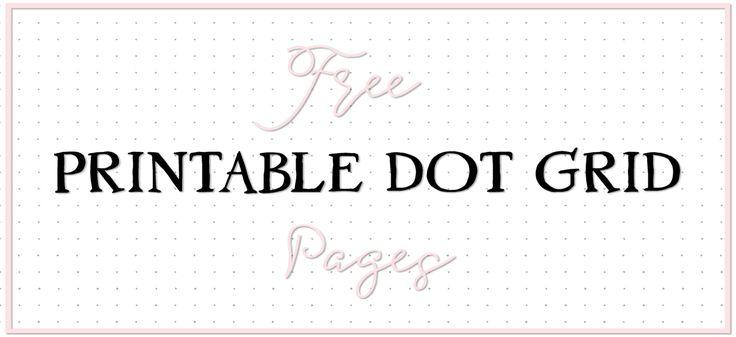 Free Printable Letter-Size Dot Grid | Free printable ...