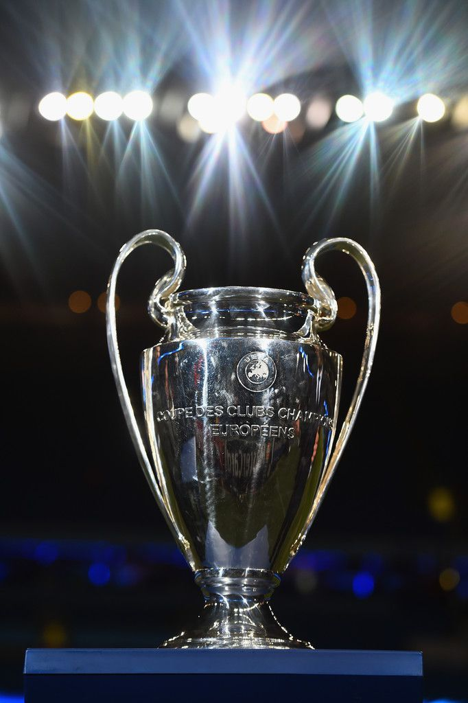 The Champions league trophy is seen prior to the UEFA ...
