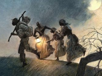 Underground Railroad - Black History Found this painting on HISTORY.com.  Not yet able to find the artist.  Pinners, if you know who painted this work please leave a comment.  Thanks!