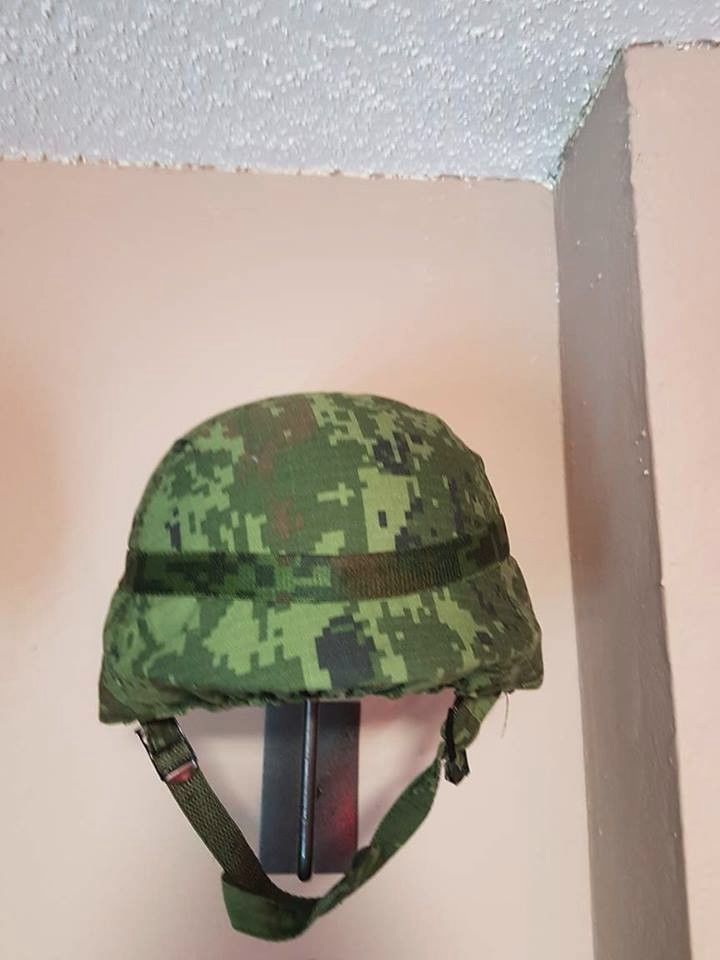 SEDENA OEM Mexican Army Green Camo Collectible PASGT Helmet Size LARGE