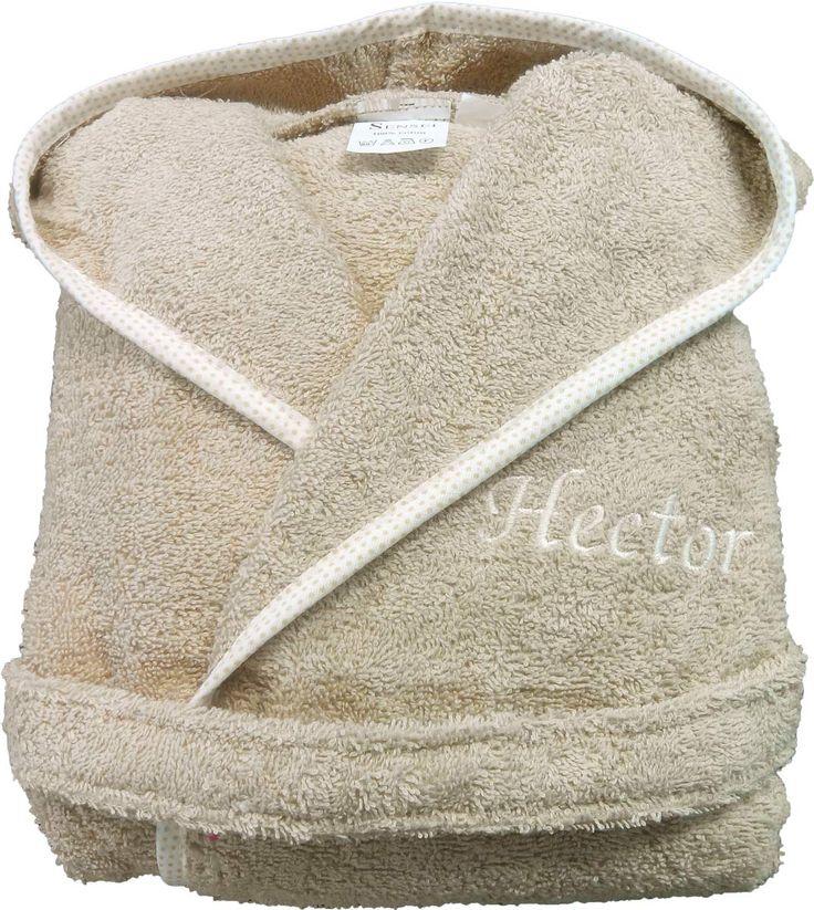 peignoir bébé cadeau de naissance personnalisé Hector par Brodeway.com #peignoirbébé #personnalisé