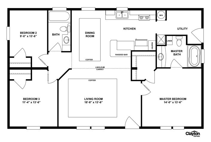 Craigslist Idaho Falls >> Clayton | Home Floor Plan | Manufactured Homes, Modular Homes, Mobile Homes | Tiny homes | Pinterest