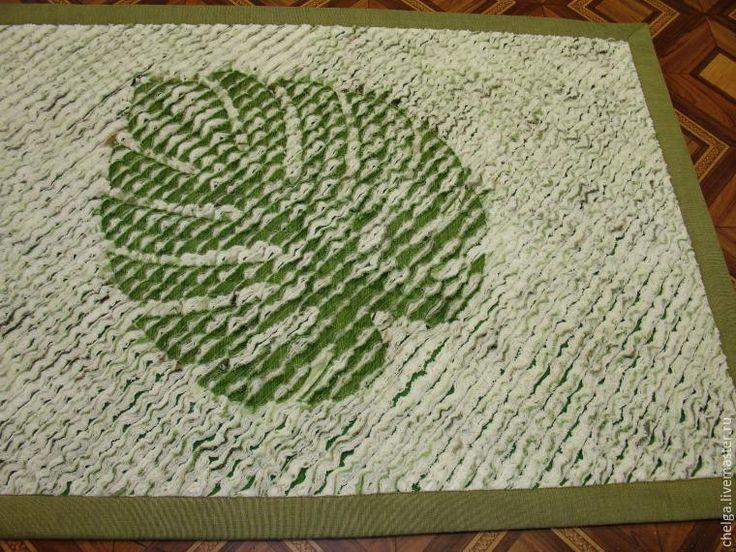 Мастер-класс: коврик с «отпечатком» листа в технике «синель». Часть 2 - Ярмарка Мастеров - ручная работа, handmade