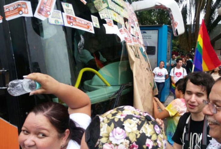 Otro ataque al autobús de la Libertad, ahora lo detienen en Monterrey | El Puntero