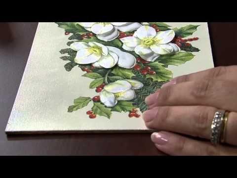 Mulher.com 25/11/2013 - Decoupage natal com relevo - Célia Bonomi - YouTube