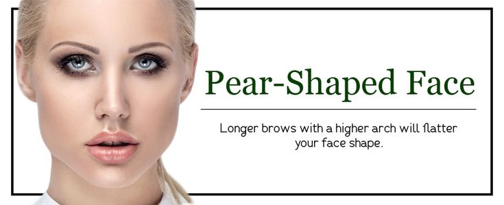 Eyebrow Shapes for Pear Shaped Faces  Different Eyebrow Shapes