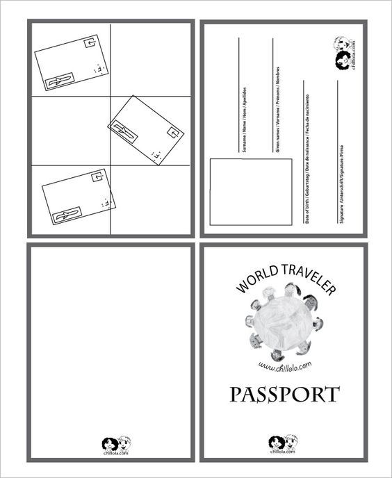 Declarative image within free printable passport template