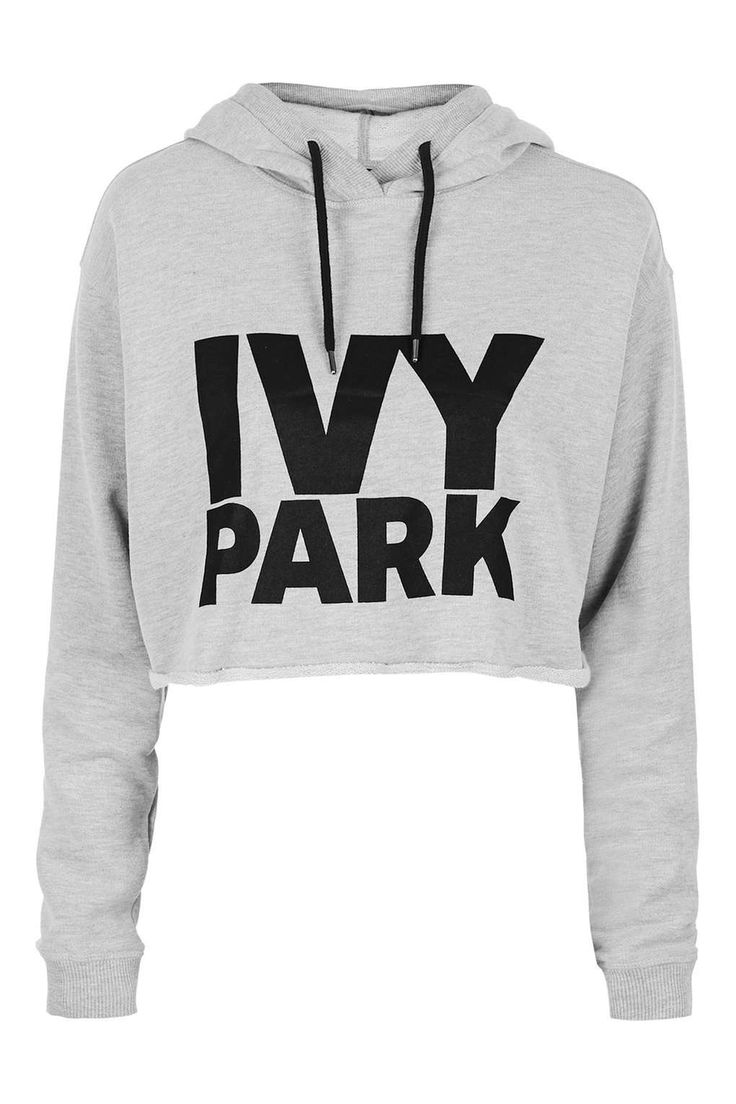 Cropped Logo Detailed Hoodie by Ivy Park - Tops - Clothing - Topshop