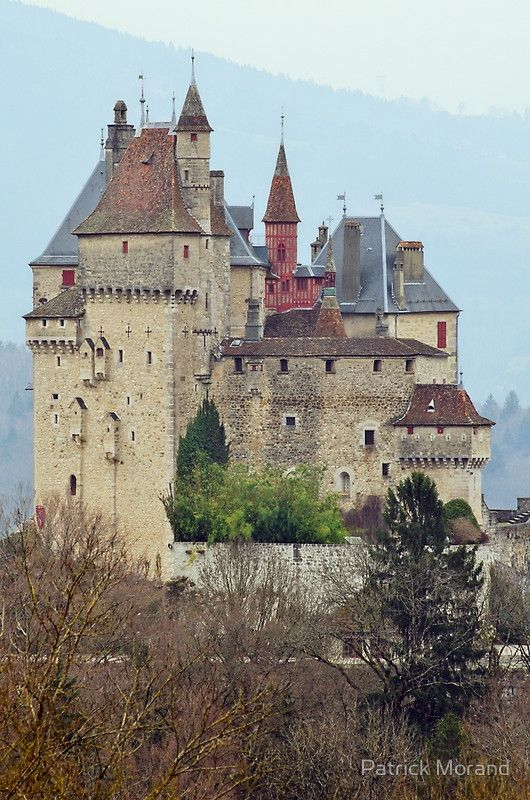 Menthon Saint Bernard castle near Annecy. France, Haute Savoie department.