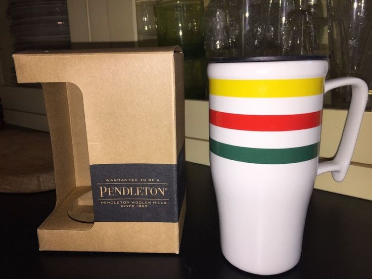 Pendleton Glacier National Park Travel Mug Coffee Cup Lid Striped Blanket NEW  | eBay