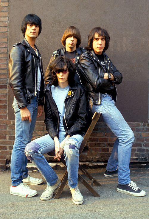 Ramones, 1980. photo by Ilse Ruppert Joey, Johnny, Marky, DeeDee GABBA GABBA HEY