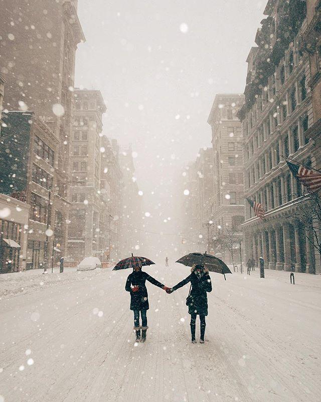 Snowy streets NYC | Winter Storm Jonas | January 23, 2016