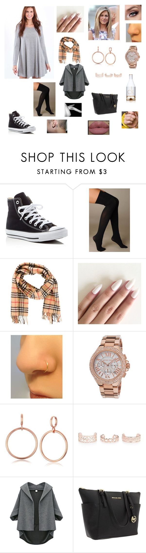 Untitled #225 by katrine-frid on Polyvore featuring Hue, Converse, Michael Kors, Vince Camuto, New Look, Burberry and Calvin Klein