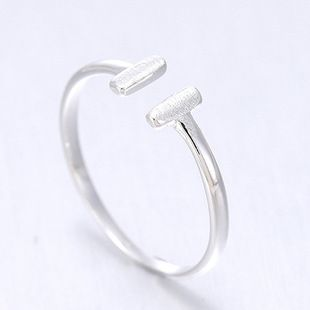 925 Sterling Silver Letter Rings for Women New Design Lovely Girls Christmas Gift Statement Jewelry Adjustable Size Ring