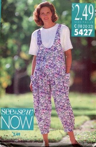 EZ 80s baggy jumpsuit pattern See & Sew 5427 | Jumpsuits ...