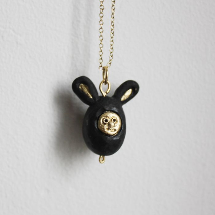 black bunny necklace made by me! I'll be listing this (or similar) soon in my Etsy shop https://www.etsy.com/ie/shop/lovelysomethingshop