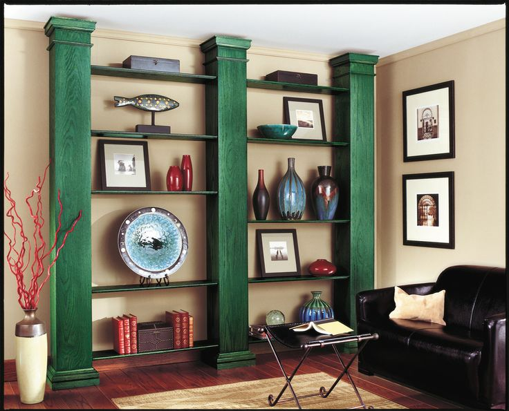 Minwax Water Based Stain in Hunter Green make simple columns look like  custom built. 15 best Color Transformations images on Pinterest