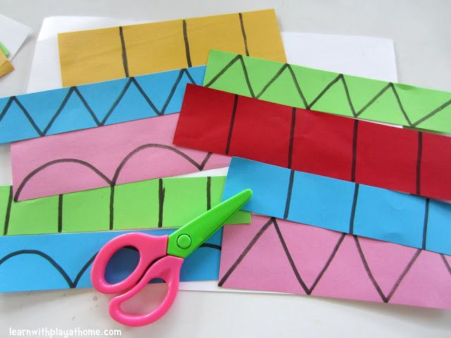 Pre-k Cutting Practice & Learning Shapes perfect in weeks 2 and 3 of the school year! Place in Weekly Work Packets