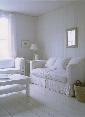 Could I live in a totally white room?  Yes!  Could my little guys and hubby?  Don't think so, *sigh*