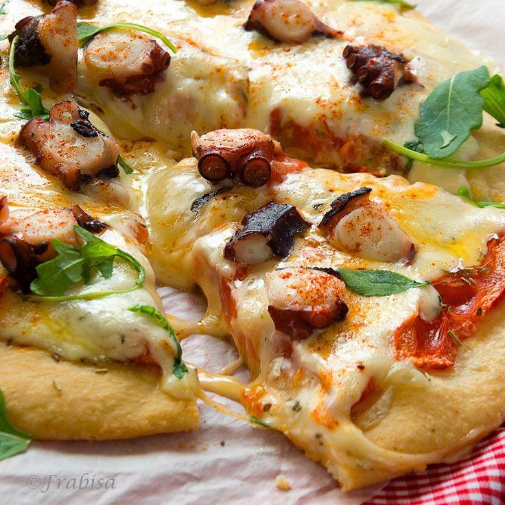La cocina de Frabisa: Pizza Gallega de Pulpo y Queso de Tetilla. Receta