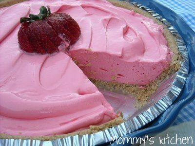 Kool aid pie!  1 pk. fav. kool aid  1 can Eagle brand milk  1 Cool Whip (8 oz) Creamy  1 Graham crust