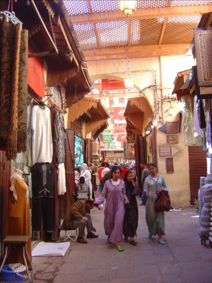 Morocco, Fez market in Medina - old walled city