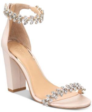 0f86bff3e Jewel Badgley Mischka Mayra Evening Sandals - Tan Beige 9.5M