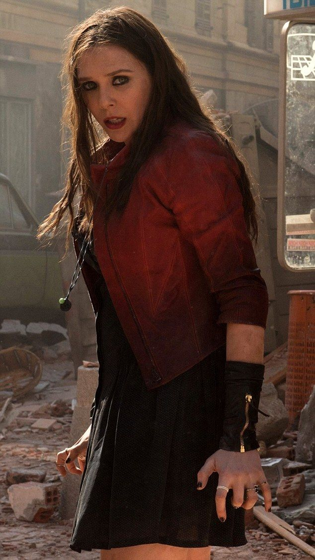 A look at the Scarlet Witch's attire, many rings and magical hand gestures from Captain America: Civil War. Elizabeth Olsen plays this telekinetic eventual Avenger. from the Daily Mail.