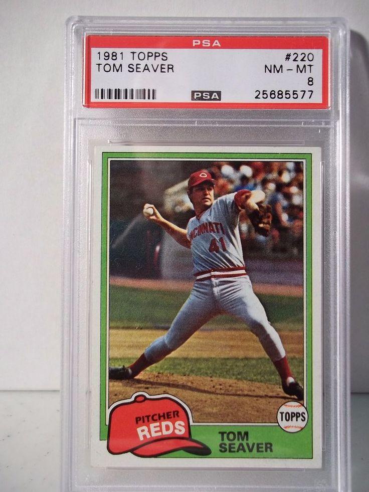 1981 Topps Tom Seaver PSA NMMT 8 Baseball Card 220 MLB
