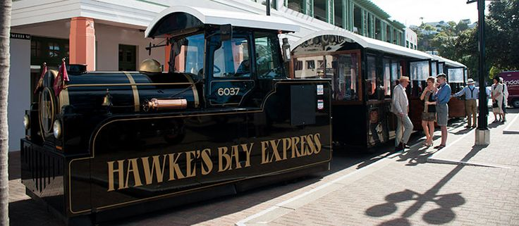 The Hawke's Bay Express, Napier, New Zealand.  A great little tour of the city on a fabulous train which started lit's life as a tractor :)