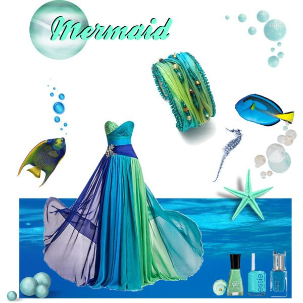 Mermaid by pilipar-eva on Polyvore featuring Ciner, Essie and Tom Ford