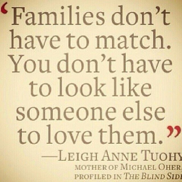 This is so true and there are so many children waiting for forever families.  You don't have to give birth to a child to love them with all your heart.
