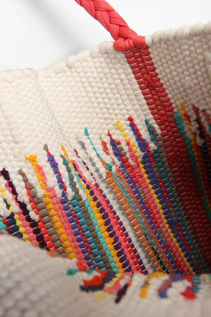 Ecote Woven Tote Uo 39 Art Threads Stitches