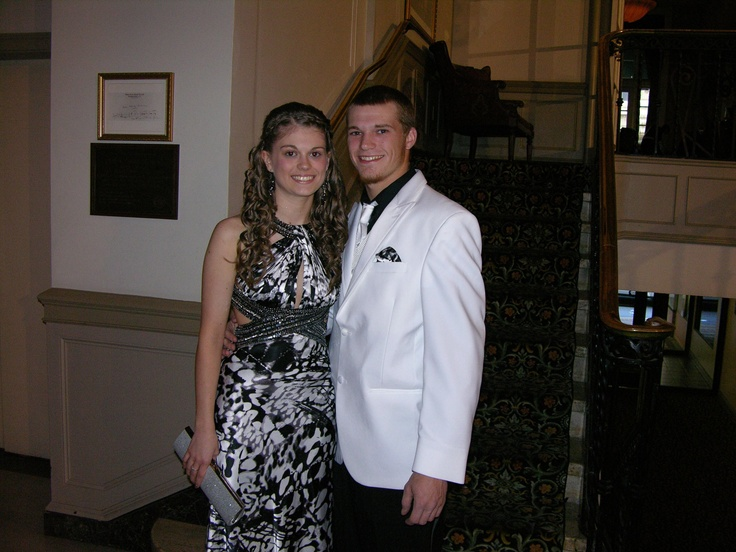 Paige Richard and Brandon Volbrig before the Pottstown High School prom.