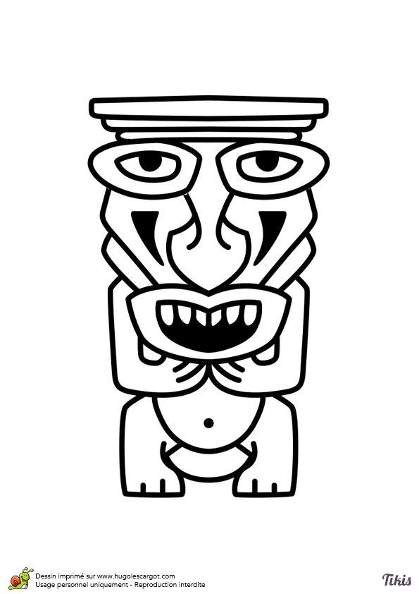 Les 40 meilleures images du tableau coloriages totem tiki - Coloriage tahiti ...