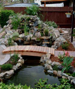I want a bridge over my pond.
